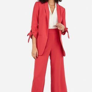 Express Tie Sleeve Boyfriend Blazer Guava Pink